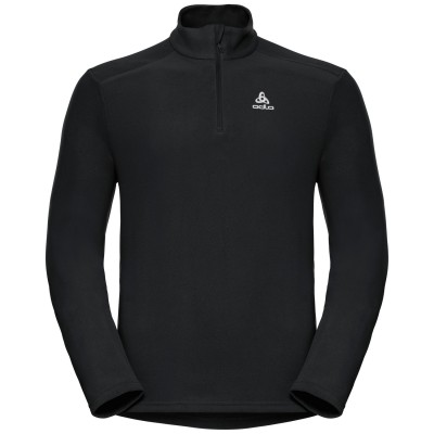 ΜΠΛΟΥΖΑ ODLO BERNINA HALF ZIP MIDLAYER - ΜΑΥΡΟ