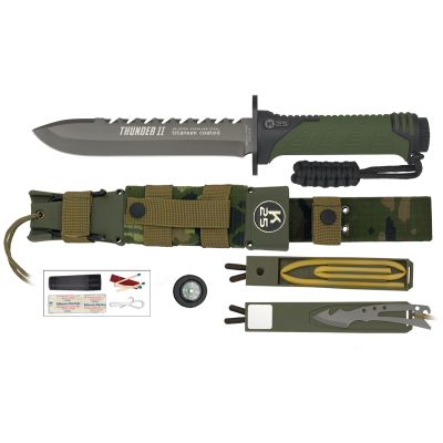 ΜΑΧΑΙΡΙ K25, Tactical Knife, THUNDER II, GREEN, ENERGY, 32134