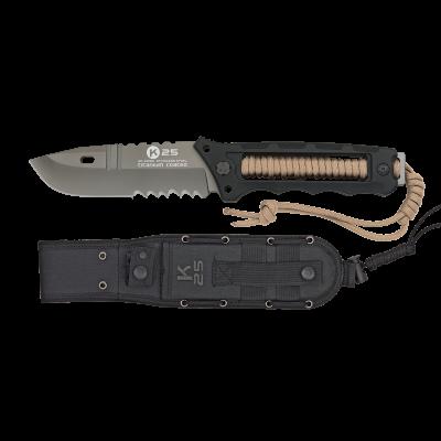ΜΑΧΑΙΡΙ K25, Titanium Coated,Black with Coyote Cord, 32164