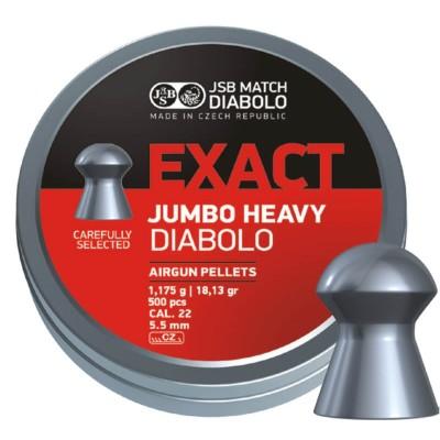 ΒΛΗΜΑΤΑ JSB EXACT JUMBO 5.53mm / 500 HEAVY, (1,175gr. / 18.13g)