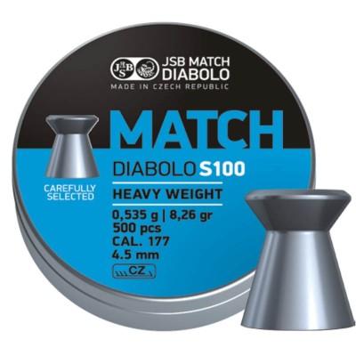 ΒΛΗΜΑΤΑ JSB MATCH DIABOLO BLUE 4.50mm / 500,S100  for Rifles, (0,535gr ) Heavy